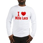 I Love Mille Lacs Long Sleeve T-Shirt