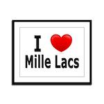 I Love Mille Lacs Framed Panel Print