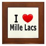 I Love Mille Lacs Framed Tile