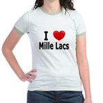 I Love Mille Lacs Jr. Ringer T-Shirt