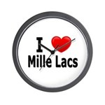 I Love Mille Lacs Wall Clock