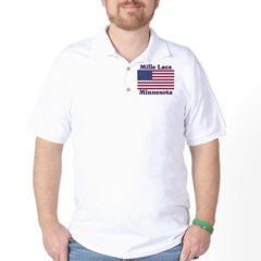 Mille Lacs US Flag Golf Shirt