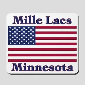 Mille Lacs US Flag Mousepad