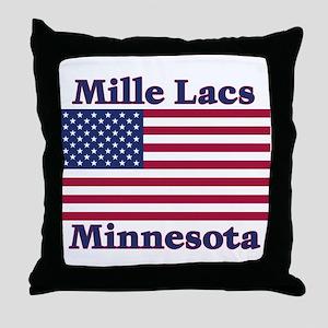 Mille Lacs US Flag Throw Pillow