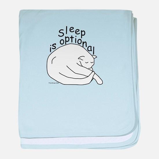 Sleep is Optional baby blanket