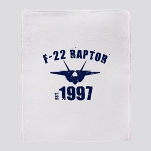 Varsity F-22 1997 Throw Blanket