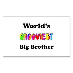 World's Grooviest Big Brother Sticker (Rectangle)