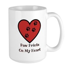 Paw prints on my heart Mugs