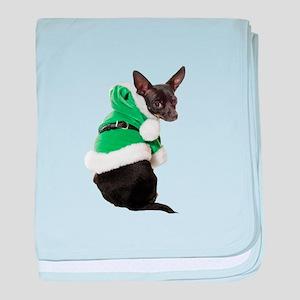 Santa Chihuahua baby blanket