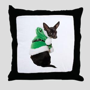 Santa Chihuahua Throw Pillow