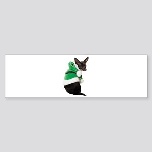 Santa Chihuahua Sticker (Bumper)