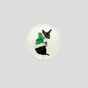 Santa Chihuahua Mini Button