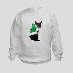 Santa Chihuahua Kids Sweatshirt