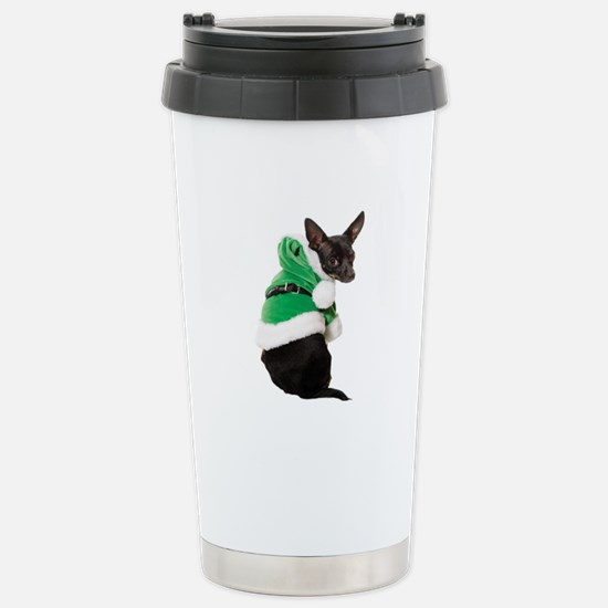 Santa Chihuahua Stainless Steel Travel Mug