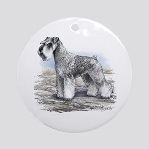 Miniature Schnauser Ornament (Round)