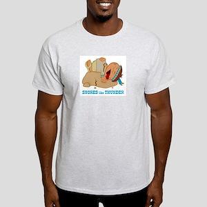 Snores like Thunder Ash Grey T-Shirt