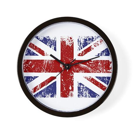 British Flag Punk Grunge Wall Clock