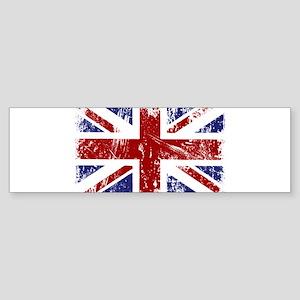 British Flag Punk Grunge Sticker (Bumper)