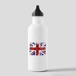 British Flag Punk Grunge Stainless Water Bottle 1.