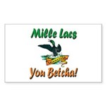 Mille Lacs You Betcha Sticker (Rectangle 10 pk)