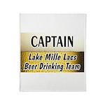 Mille Lacs Beer Drinking Team Throw Blanket