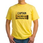 Mille Lacs Beer Drinking Team Yellow T-Shirt