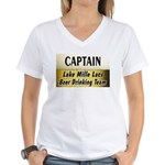 Mille Lacs Beer Drinking Team Women's V-Neck T-Shi