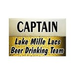 Mille Lacs Beer Drinking Team Rectangle Magnet