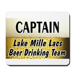Mille Lacs Beer Drinking Team Mousepad