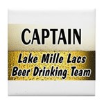 Mille Lacs Beer Drinking Team Tile Coaster