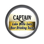 Mille Lacs Beer Drinking Team Wall Clock