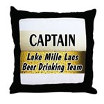 Mille Lacs Beer Drinking Team Throw Pillow