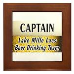 Mille Lacs Beer Drinking Team Framed Tile