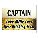 Mille Lacs Beer Drinking Team Small Poster