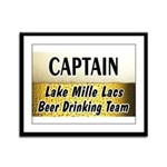 Mille Lacs Beer Drinking Team Framed Panel Print