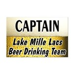 Mille Lacs Beer Drinking Team Mini Poster Print