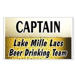 Mille Lacs Beer Drinking Team Sticker (Rectangle)