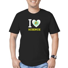 I <3 Science 1 Men's Fitted T-Shirt (dark)