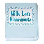 Mille Lacs Minnesnowta baby blanket