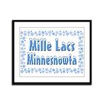 Mille Lacs Minnesnowta Framed Panel Print