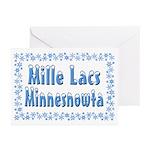 Mille Lacs Minnesnowta Greeting Cards (Pk of 20)