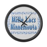 Mille Lacs Minnesnowta Large Wall Clock