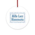 Mille Lacs Minnesnowta Ornament (Round)