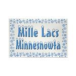 Mille Lacs Minnesnowta Rectangle Magnet (10 pack)
