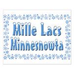 Mille Lacs Minnesnowta Small Poster