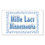 Mille Lacs Minnesnowta Sticker (Rectangle 10 pk)