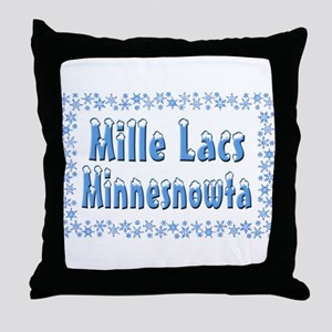 Mille Lacs Minnesnowta Throw Pillow
