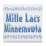 Mille Lacs Minnesnowta Tile Coaster