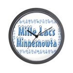 Mille Lacs Minnesnowta Wall Clock