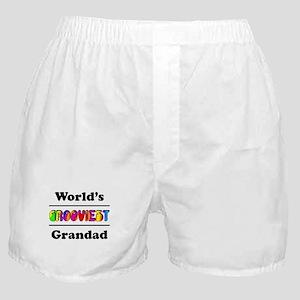 World's Grooviest Grandad Boxer Shorts